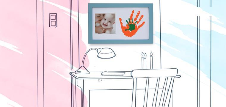 Baby Memory Prints Paint Wall Family Frame Mavi 64752 - Baby Memory Prints Paint Wall Family Frame Mavi