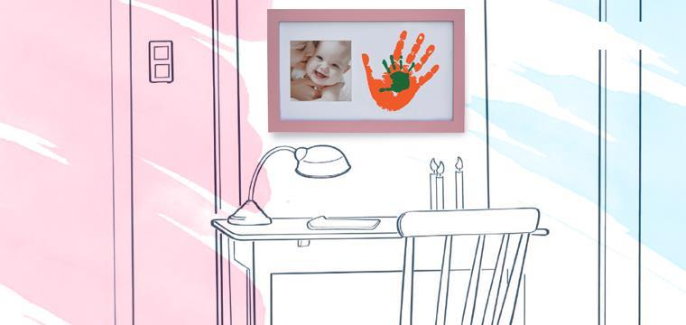 Baby Memory Prints Paint Wall Family Frame Pembe 64750 - Baby Memory Prints Paint Wall Family Frame Pembe