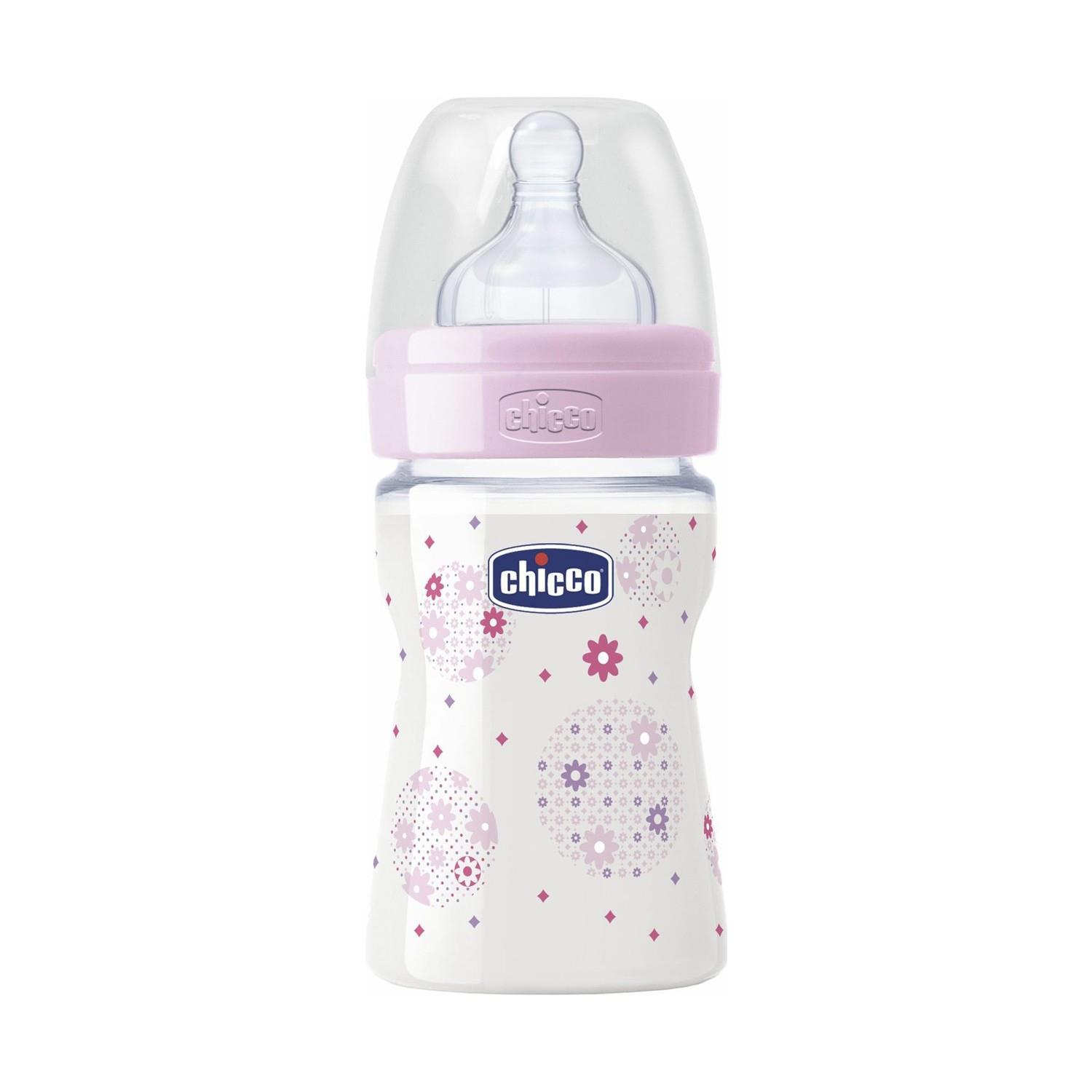 Chicco Wellbeing Pp Biberon Silikon 150 Ml Kiz Normal Akis 52930 - Chicco Wellbeing Pp Biberon Silikon 150 Ml Kız Normal Akış